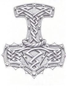 tatouage Mjölnir